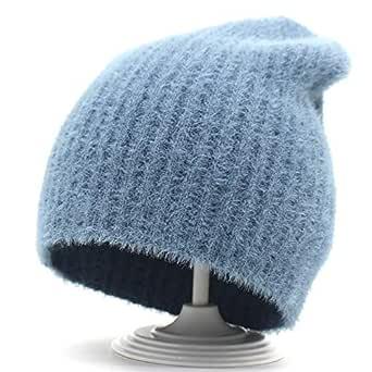 Sombreros De Invierno para Damas Mujeres Crochet Knit Cap Skullies ...