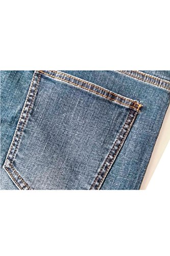 Zonsaoja Azul Recorte Ligeros Pantalones Short De Lavados Los Hombres Jeans Casual Denim CrCRqwB