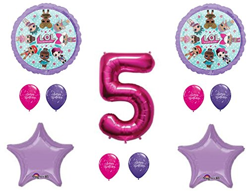 Price comparison product image 5th Birthday Party LOL Balloons Decoration Supplies