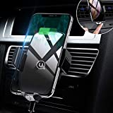 Wireless Car Charger Mount,Automatic Clamping Fast Charger Air Vent Car Phone Holder 10W for Samsung Galaxy S9/S9+/S8/S8+/Note9/Note8,7.5W for iPhone Xs Max/Xs/XR/X/8/8 Plus&All Qi-Enabled Smartphone