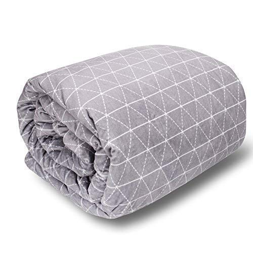 rocabi 30 lbs Adult Weighted Blanket & Cover Luxury Set (80