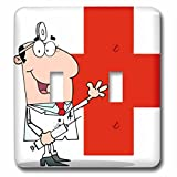 Edmond Hogge Jr Prints n Patterns - Medical Doctor - Light Switch Covers - double toggle switch (lsp_63105_2)