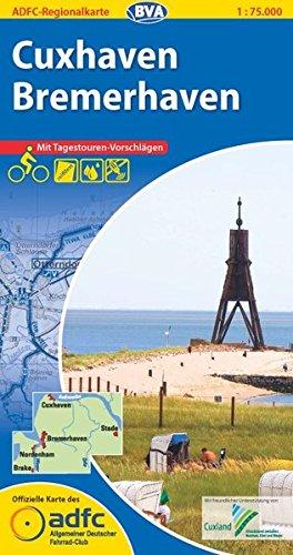 ADFC-Regionalkarte Cuxhaven Bremerhaven mit Tagestouren-Vorschlägen, 1:75.000, reiß- und wetterfest, GPS-Tracks Download: Zwischen Nordsee, Elbe und Weser (ADFC-Regionalkarte 1:75000)