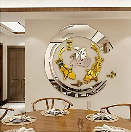 Chinois Feng Shui Poissons Acrylique 3D Stickers Muraux ...