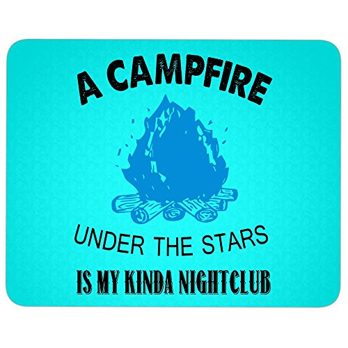 It's My Night Club great gift idea Mousepad, A Campfire Mouse Pad (Mouse Pad - Cyan)