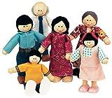 Small World Toys Ryan's Room Wood Doll House -Family Affair Asian-American Doll Family