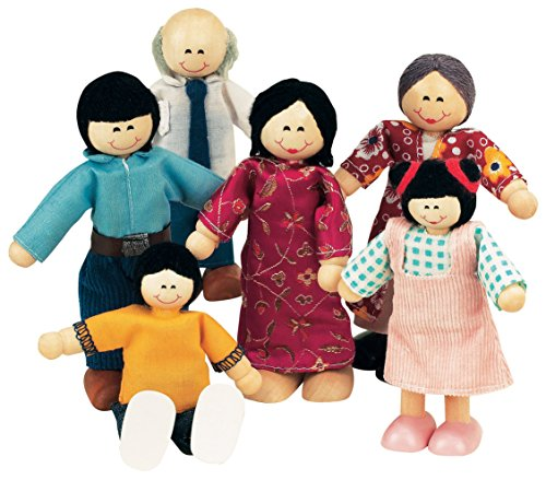 Room Wood Ryans - Small World Toys Ryan's Room Wood Doll House -Family Affair Asian-American Doll Family