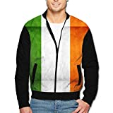 988Iron Irish Flag Vintage Design Men's Full-Zipper Hoodie Jacket
