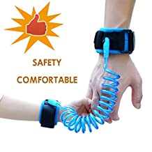 Baby Child Anti Lost Safety Wrist Link Harness Strap Rope Leash Walking Hand Belt for Toddlers, Kids(2.5m Blue)