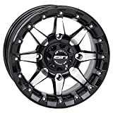 STI HD5 Beadlock Machined/Gloss Black ATV Wheel 15x7 (4/137) - (5+2) [15HB507]