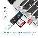 Electop 2 in 1 SD Card Reader, USB 3.0 SD/Micro SD