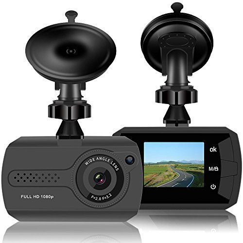Dash Cam 1080P Full HD Mini Car Dashboard Camera with Night Vision,G-sensor Motion Detection Loop Recording Parking Monitor (Capture Pal Card Ntsc Security)