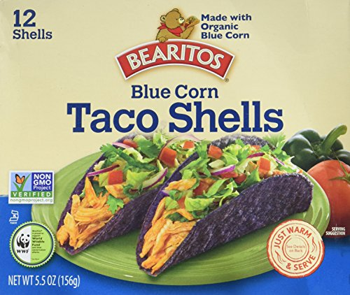 Bearitos Blue Corn Taco Shells, 12 Count (Pack of 12)
