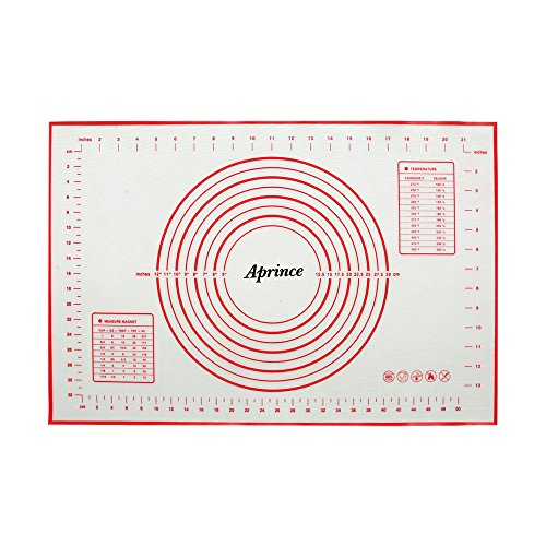 Aprince Silicone Non-Stick Baking Mat Large with Measurements, Non-Slip for Rolling Dough, Cookie Sheet Kneading Mat (Style 3 - 15.75x23.62)