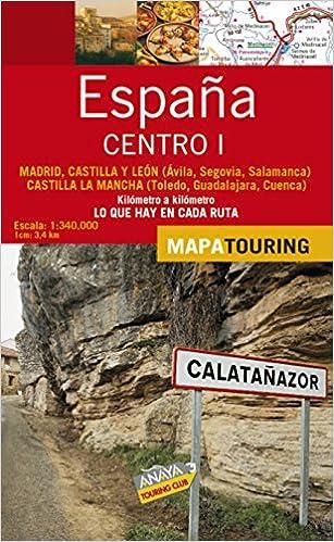 Mapa de carreteras 1:340.000 - Centro I desplegable Mapa Touring: Amazon.es: Anaya Touring: Libros