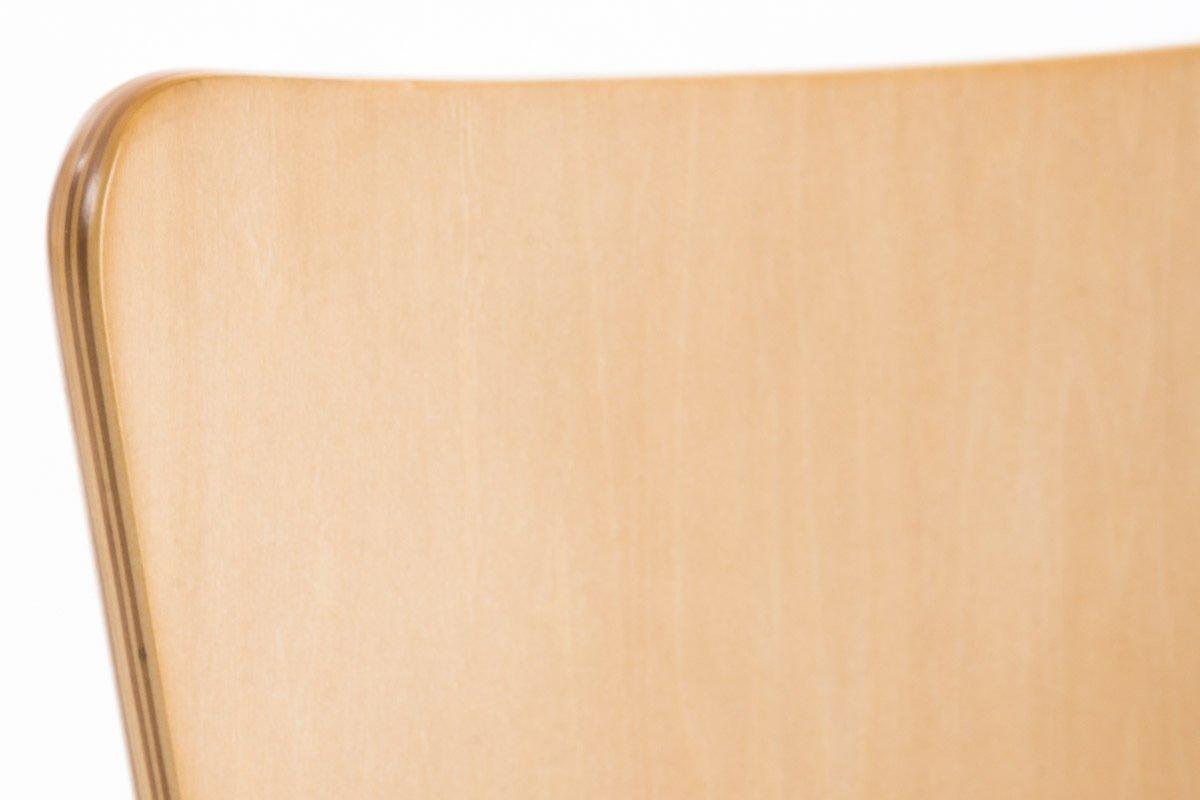 CLP Set 2 Sedie Impilabili Aaron in Legno Robusto e Telaio in Metallo Sedia Attesa in Legno Ergonomica I Carico Max 120kg Arancione Sedia Ospite Facile da Pulire Design Classico