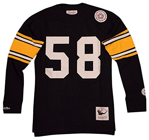 Mitchell & Ness Pittsburgh Steelers Jack Lambert Name & Number Long Sleeve Tee (Large)