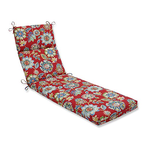 Pillow Perfect Outdoor/Indoor Daelyn Cherry Chaise Lounge Cushion, 72.5 in. L X 21 in. W X 3 in. D