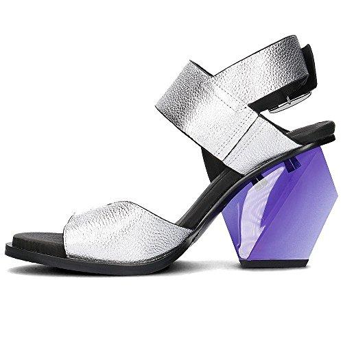 Uni Nue Leona Slingback Hi - 1020722903 Noir-argent-violet