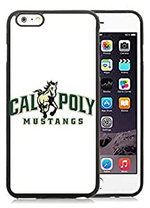 6 Plus TPU case,NCAA Big Sky Conference Football Cal Poly Mustangs 1 Black iPhone 6 Plus 5.5 inch TPU case