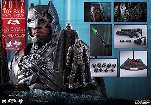 DC Hot Toys Armored Batman Battle Damaged Version 1/6 Scale Batman vs Superman Ben Affleck Collectible Figure (2017 Toy Fair Exclusive) (Ben Affleck Best Batman)