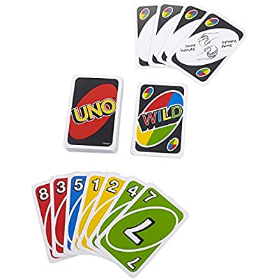 Mattel Games UNO Card Game Customizable with Wild Cards: Toys & Games