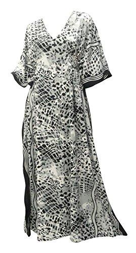La Leela peau liqueurs animal imprimé chemise de maternité à long caftan caftan gris
