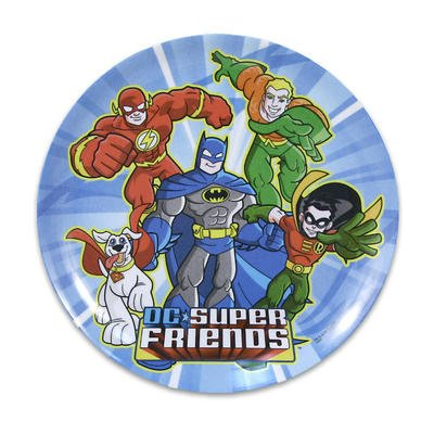 Blue Coupe Dinner Plate - Super Friends Standard Coupe Plate 20cm