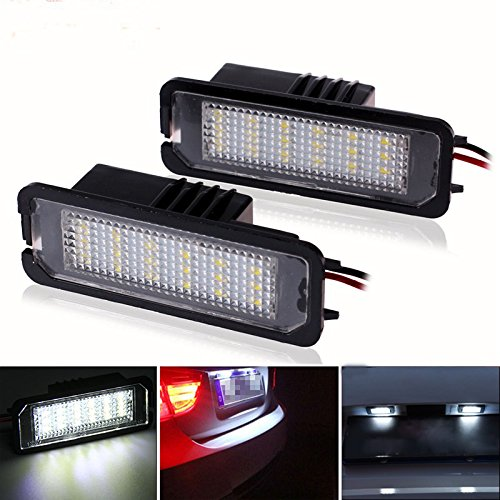 Ralbay 2piece Car Number License Plate Lamps White 24 LED Lights Bulbs Car Light Source
