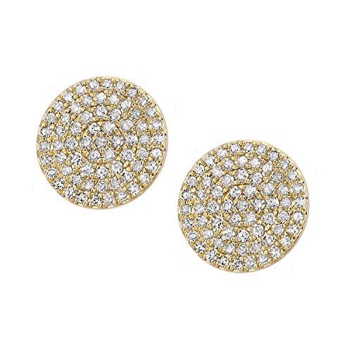 Naava femme  9carats (375/1000)  Or jaune #Gold Rond   Blanc Diamant