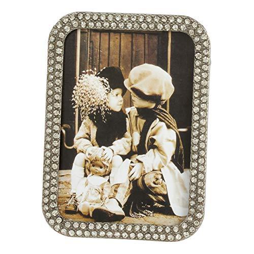 - SARO LIFESTYLE Small Stone Jeweled Photo Frame 3.5