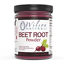 Wilson Naturals Organic Beet Root Powder Superfood (Non-GMO) - Natural Nitrates (Nitric Oxide), Phytonutrients, No Additives/Fillers or Sweetners – Pure Beet Extract - 454 grams (90 Servings)