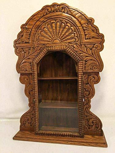 - Gingerbread Clock Case Knick Knack Shelf Antique Mantle Desk Display Made In USA