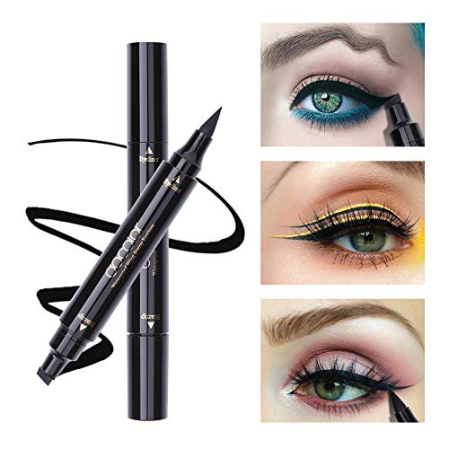 Wing Dual (Dooclor Eyeliner Stamp Double-sided Liquid Winged Eye Liner Pen Waterproof Smudgeproof Long Lasting Wing Original Eyeliner Pen)