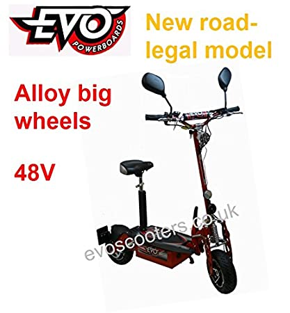 1e9128391 Alloy Big Wheel 48V C9316 1000W 48V Road Legal EVO Powerboard Electric  Scooter