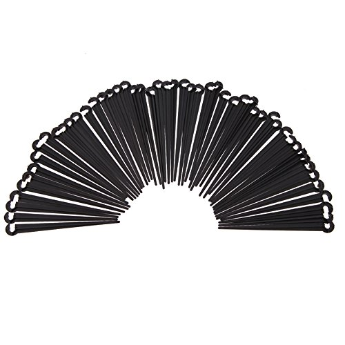 JD Million shop 50 PCS 11cm Plastic Hook Fixed Stems Support Holder for 4/7 Drip Irrigation Water Hose Watering Kits