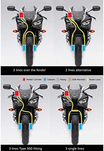 Azul 100cm Colorido Motocicleta hidr/áulico de freno o embrague reforzado tubo de aceite Manguera L/ínea para moto ATV Dirt Pit Bike etc