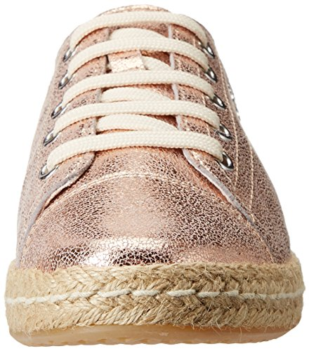 Women's Gold Skin Sneakers Top Low Geox D D Rose Modesty qxRHAp