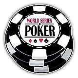Poker World Championship Chips Art Decor Vinyl Sticker 12'' X 12''
