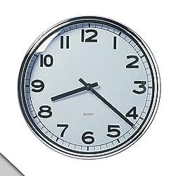 IKEA - PUGG Wall Clock, Chrome Plated