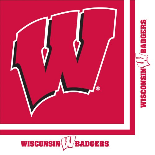 (20-Count Paper Lunch Napkins, Wisconsin Badgers)