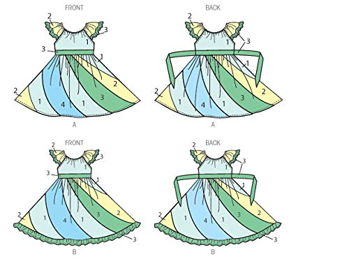 KWIK-SEW PATTERNS K0184 Girls Dresses