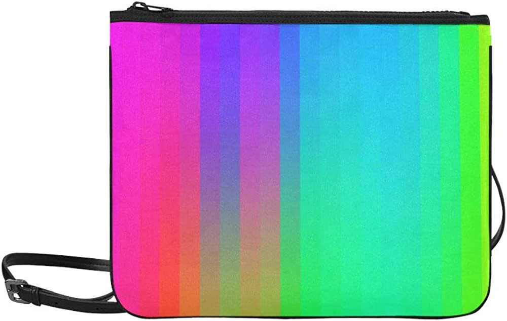 Cute Handbags Colorful Abstract Art Palette Rainbow Adjustable Shoulder Strap Cross Body Bag For Women Girls Ladies Bags Clutch Tote Crossbody Bag