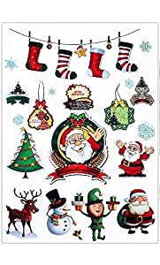 Waterproof Christmas Tattoos, Santa Claus, Christmas Tree, Rain Deer, Socks A5