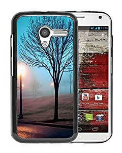 New Beautiful Custom Designed Cover Case For Motorola Moto X With Night Desolation In The Park Phone Case