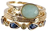 Amazonite & CZ Wholesale Gemstone Jewelry Stackable Ring Set (Size 11)
