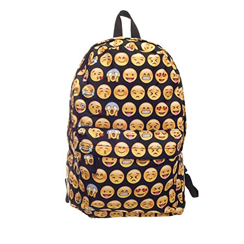 Unisex Mochila Mode Netter divertido Emoji Mochila Viaje escolar para mujer hombre
