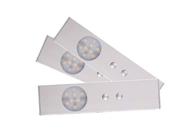 Set: 3 lámparas led con sensor de movimiento, ideal para armarios, etc.