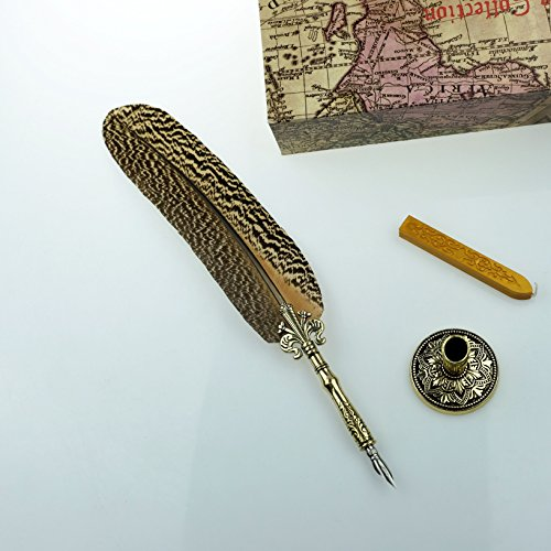 GC-QUill-Copper-Pen-Stem-Antique-True-Feather-Metal-Nibbed-Calligraphy-Pen-Dip-Pen-L16114-for-Harry-Potter-Fans