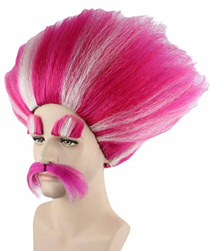 Halloween Party Online King Troll Wig, Red HM-110
